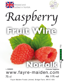 Raspberry wine label